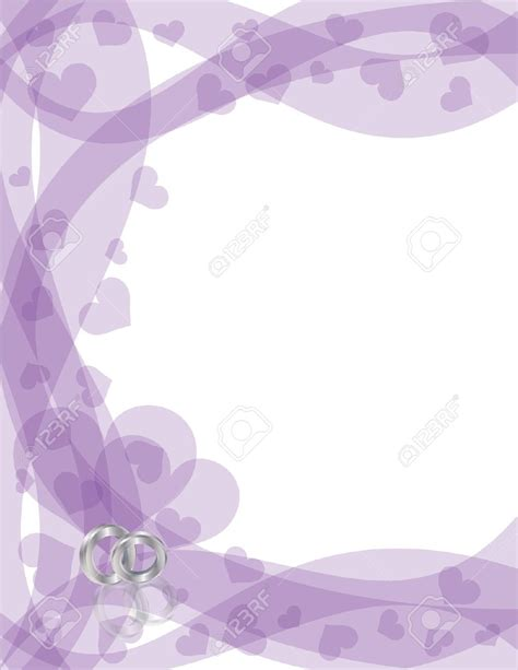Wedding Background Silver by Purple Wedding Border Clipart 75