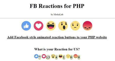 fb reaction fb reactions for php miscellaneous php scripts php