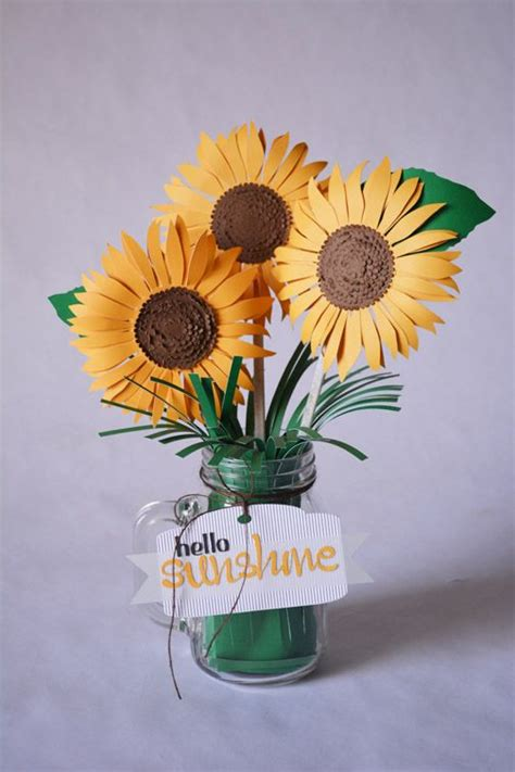 How To Make Paper Sunflowers - best 25 paper sunflowers ideas on big paper