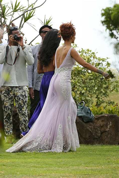 Rihanna acts as bridesmaid for her assistant's wedding