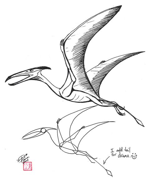 doodle dinosaur draw ruptor draw a pterosaur by diana huang on deviantart