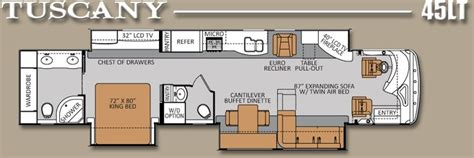 luxury rv floor plans luxury rv floor plans tuscany 45lt 45 450hp tag axle
