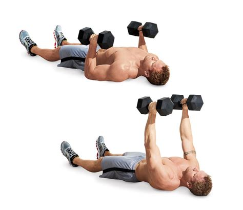 dumbbell bench press floor the 25 most powerful exercises from the 21 day shred