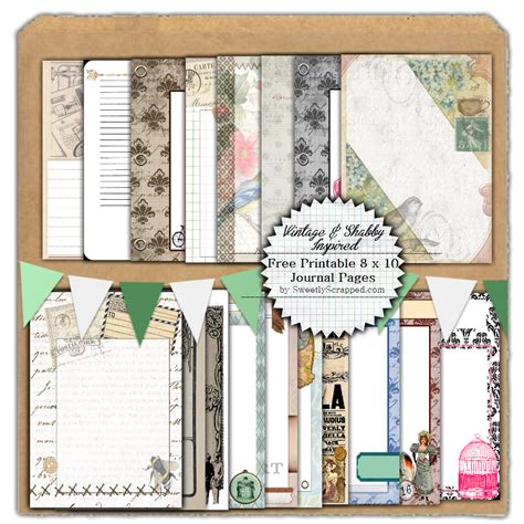 free printable vintage journal pages sweetly scrapped freebie printable journal pages