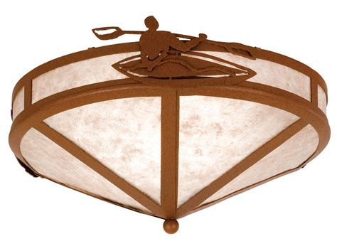 lone light fixtures meyda 26874 lone kayak flush mount ceiling fixture