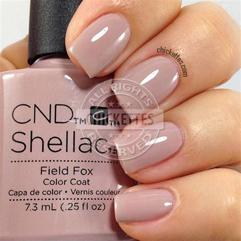 most popular shellac colors cnd shellac field fox swatch by chickettes com soak