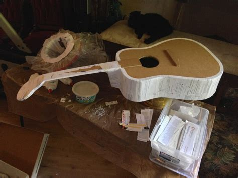 How To Make A Paper Mache Guitar - papier m 226 ch 233 guitar in process britta blvd