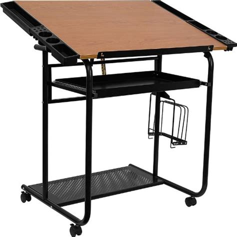 Portable Drafting Tables New Portable Drafting Table Wheeled Casters Adjustable Drawing Desk Station Ebay