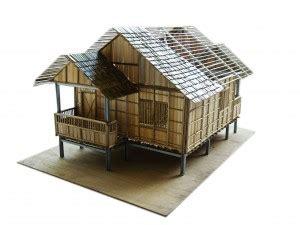 Coklat Made Home Alami desain rumah bambu