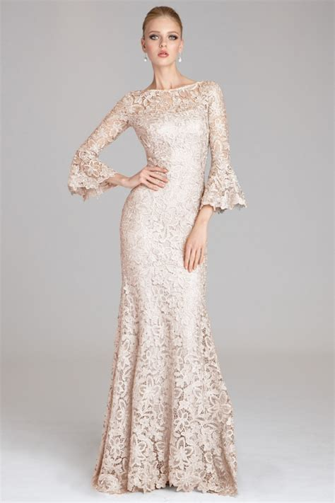 Sleeve Lace Evening Gown flare sleeve lace gown teri jon