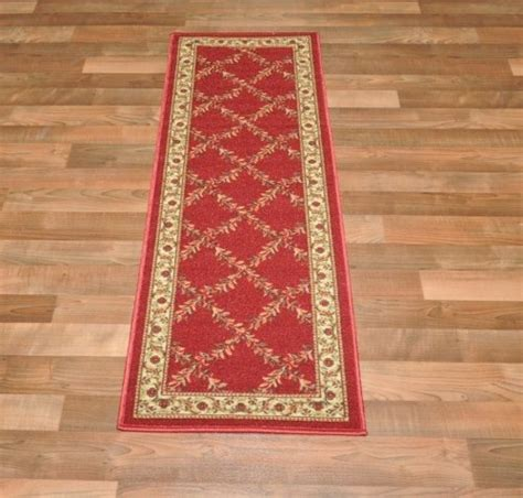 rubber backed runner rugs new trellis floral design rubber backed non slip runner rug carpet 2x5 new ebay