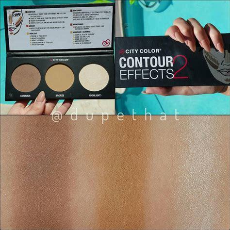 city color cosmetics review dupethat city color cosmetics contour effects 2 palette