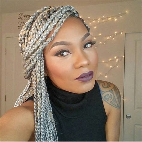 black to grey ombre box braids hairstyles 337 best braids images on pinterest