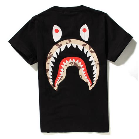 Stussy Kaos Tshirt Stussy X A Bathing Ape 1 a bathing ape quot stussy camo shark quot t shirt black