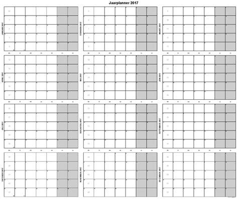 Kalender 2017 A1 103 Jaarplanner 2017 Grote Jaarkalender Op A1 Formaat
