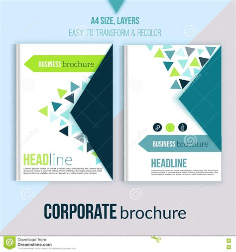 book layout business clean brochure design annual report cover template