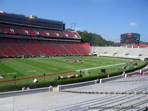 sanford stadium student section sanford stadium section 112 rateyourseats com