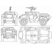 Humber Scout Car Blueprint  Download Free For