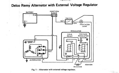 wiring diagram for alternator with external regulator ford alternator wiring diagram external regulator