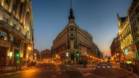 imagenes 4k ciudades madrid arquitectura noche ciudad fondos de pantalla hd