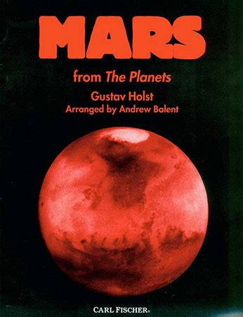 the riddle of mars the planet classic reprint books mars by gustav holst balent j w pepper sheet
