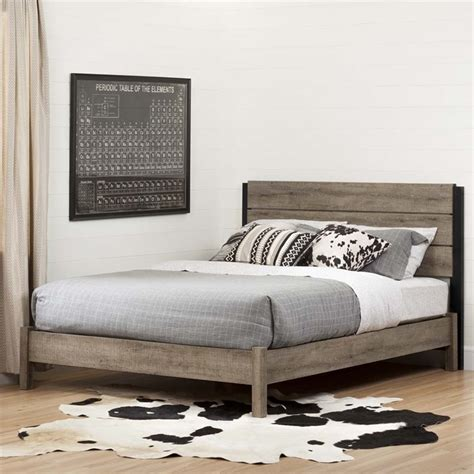 buy headboard separately south shore munich queen platform bed in weathered oak 10495