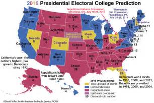 2016 Presidential Election Predictions Map by 2016 Election Prediction Map Car Interior Design