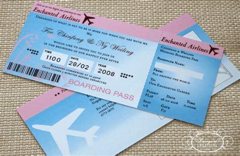 desain brosur tiket pesawat 20 contoh desain undangan pernikahan unik simple dan
