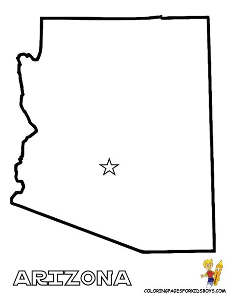 arizona state map outline arizona state template map of usa states 01 alabama