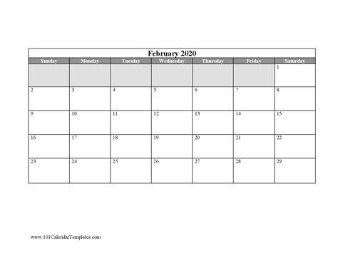 blank calendar templates word excel    month