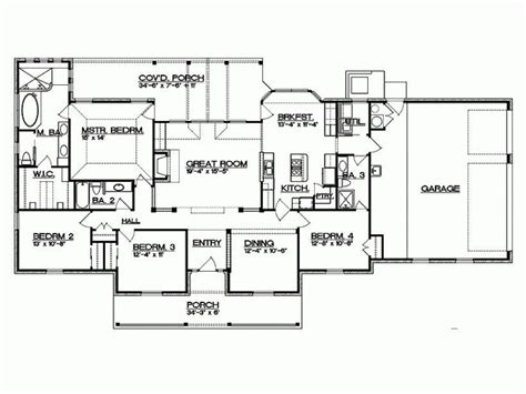 4 bedroom ranch floor plans ranch house floor plans fresh eplans ranch house
