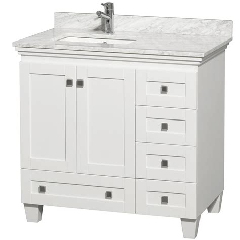 White Bathroom Vanity With Sink 36 Quot Acclaim Single Bath Vanity White Bathgems
