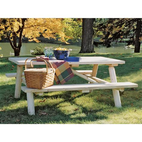 Log Patio Furniture by Rustic Cedar Furniture Company 174 Cedar Log Picnic