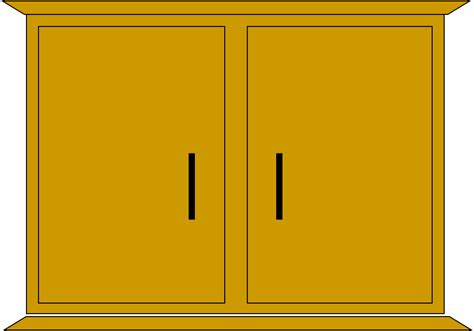 Cabinet Clipart by Cupboard Free Images At Clker Vector Clip