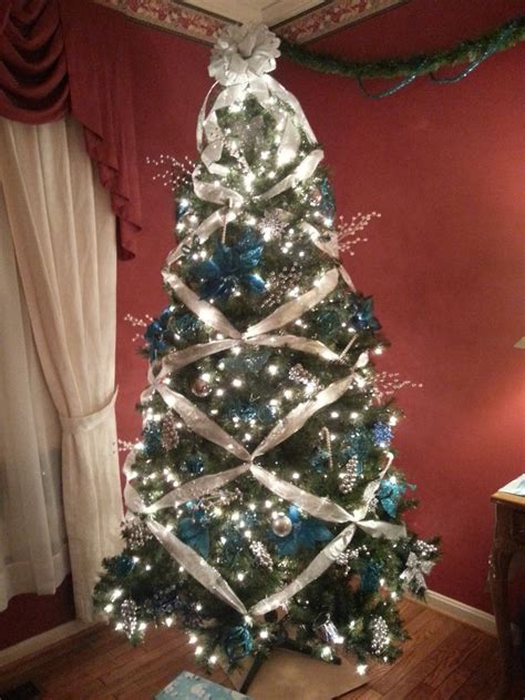 my teal and silver christmas tree blue christmas