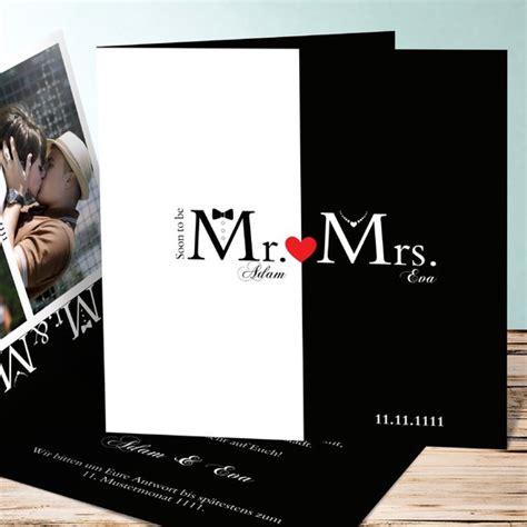 Hochzeitseinladungskarten Ausgefallen by Hochzeitseinladung Mr Mrs Detail