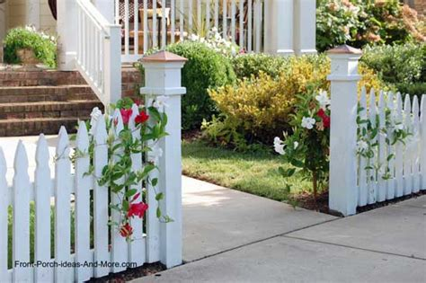 ideas for decorating iron fence posts for christmas picket fence ideas for instant curb appeal