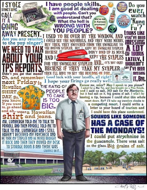 Office Space Quotes Flair Ghosts Monsters And Flair Print Series By Chet Phillips