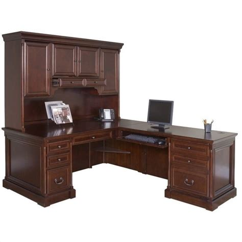 Kathy Ireland Home By Martin Mount View Right Hand Executive Desk With Hutch