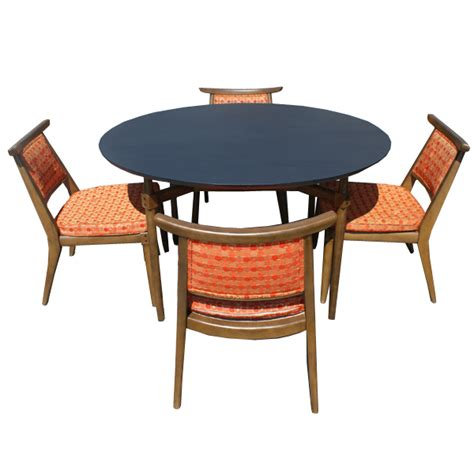 Retro Dining Table And Chairs Vintage Dining Set Table And 4 Side Chairs Ebay