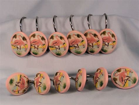 flamingo shower curtain hooks flamingo shower curtain hooks bathtime fun