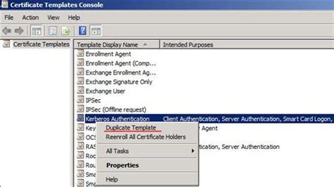 duplicate certificate template ldap ssl ldaps certificate 学步园