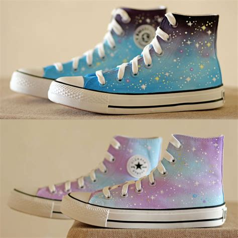 kawaii shoes harajuku gradient galaxy painted shoes 183 kawaii