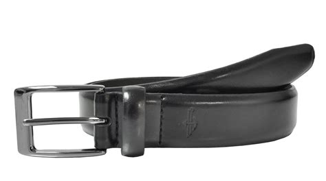 mens leather feather edge 1 1 4 inch dress belt by dockers