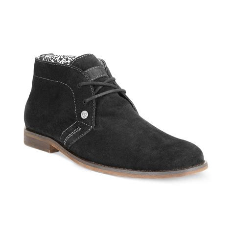 guess mens shoes hayden chukka boots in brown for