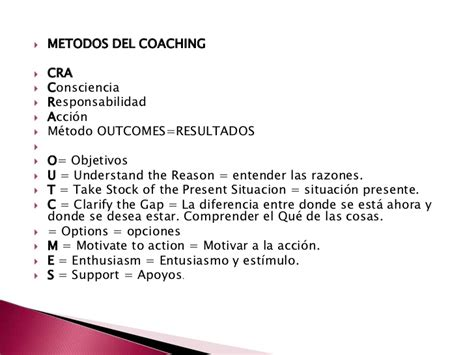 coaching el mtodo 8449331978 diapositiva coaching