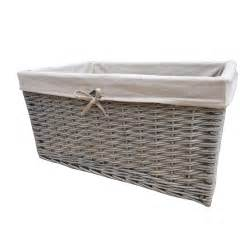 shelving with baskets for storage buy grasmere grey wash wicker storage basket from the