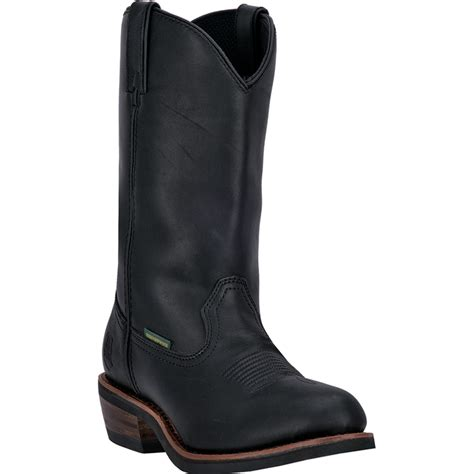 mens black cowboy boots dan post mens black waterproof leather albuquerque work