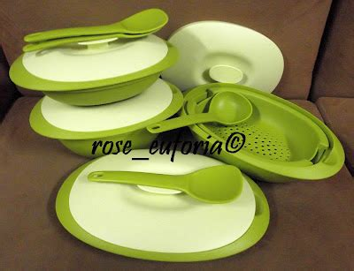 Tuperware Blossom Colection rose euforia my tupperware collection tupperware 4 units apple green blossom microwaveable