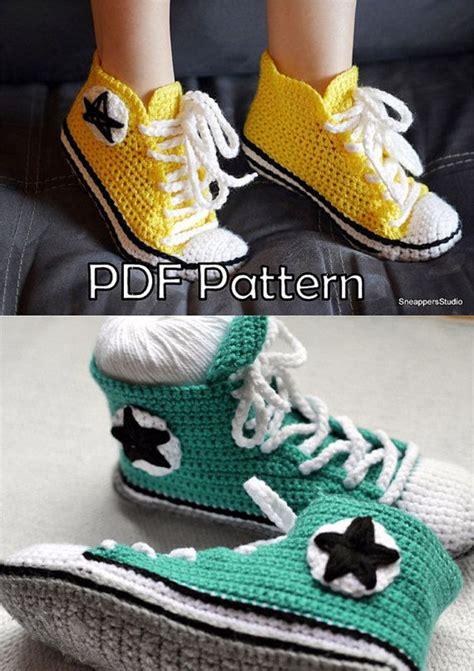 pattern crochet converse slippers yexxcv83 cheap adult converse tennis shoes crochet pattern